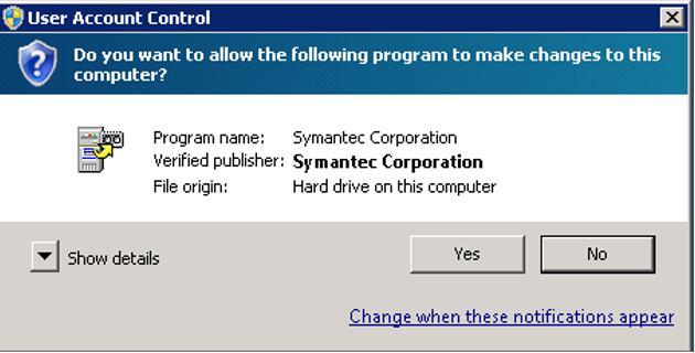 Image of User Account Control Wizard