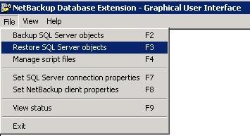 Image showing NetBackup Restore step