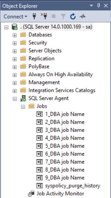Script to rename SQL Agent Jobs