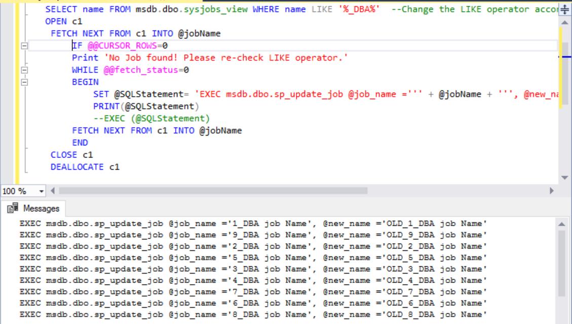 Rename SQL Agent Jobs