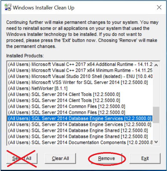 Uninstall SQL Server